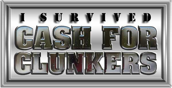 I survive Cash for Clunkers Decal