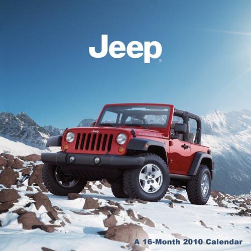 Jeep Wrangler JK Calendar for 2010
