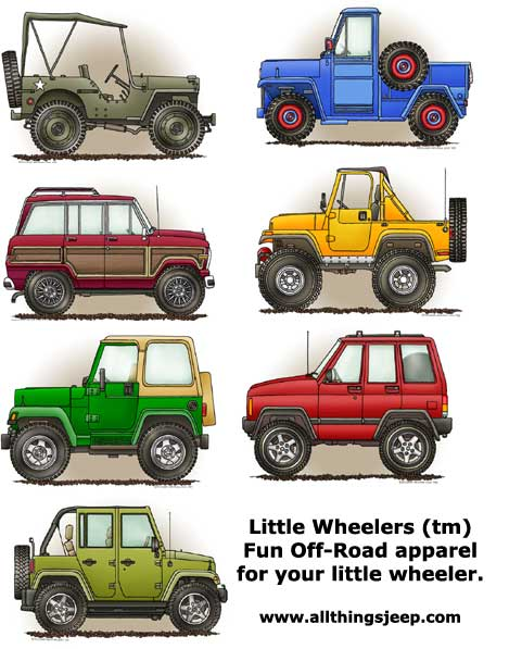 Little Wheelers Personalized Prints for Jeep Babies & Kids