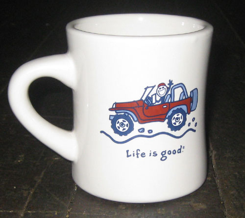 Red Jeep on White Mug resized 600