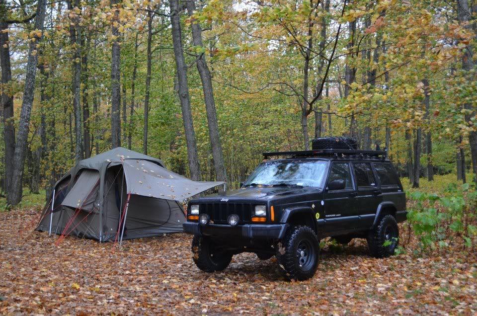 jeep cherokee camping wrangler fall autumn