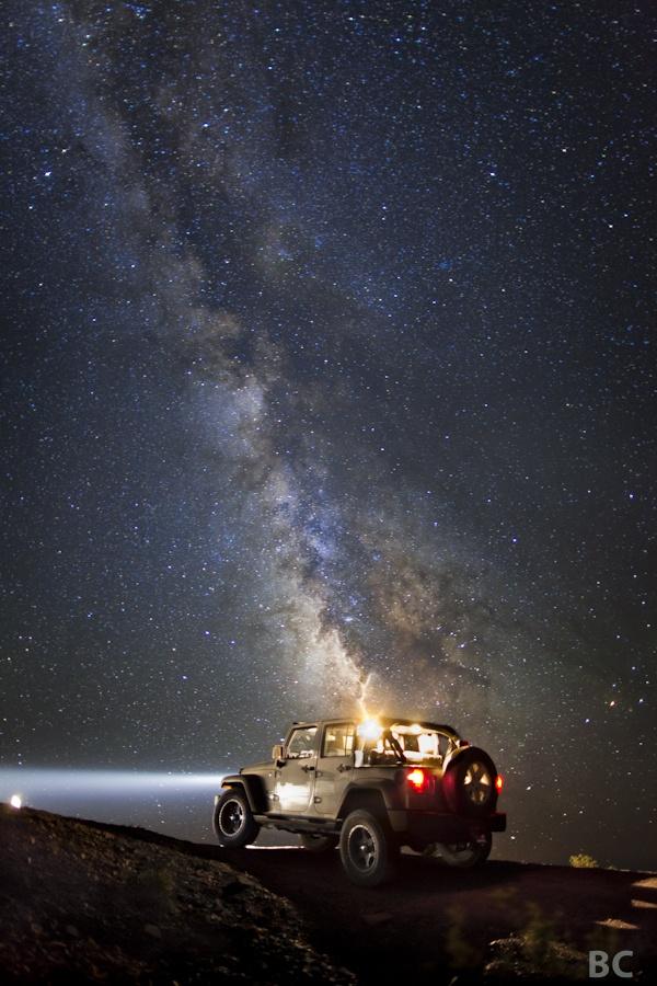 jeep star gazing night wrangler topless