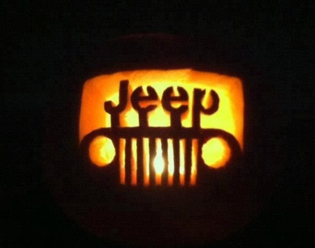 jeep-o-lantern  jeep pumpkin carving